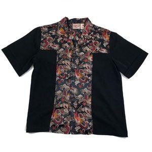Asian Dragon Hawaiian Shirt Short Sleeve Mens L